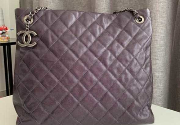 Once used chanel purple bag