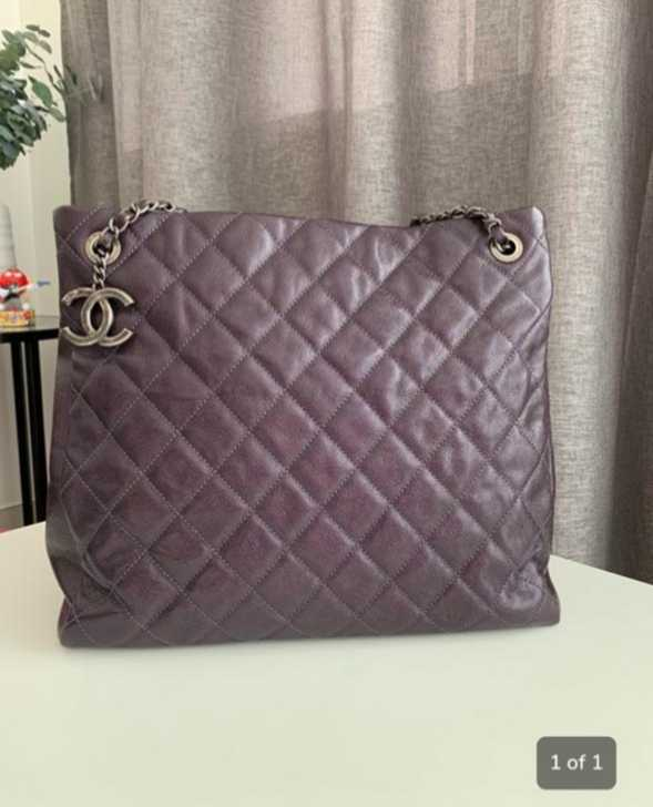 4da3a86855bc Once used chanel purple bag – Buy and Sell Used Stuff in United Arab ...