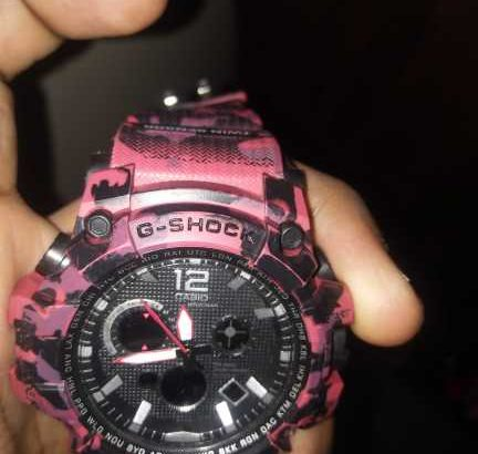 it a brand new watch of g shock…. first copy look like original.no one can find its fake..