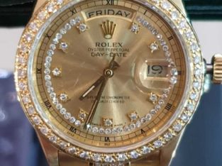 ROLEX 565 DIAMONDS STUDDED 18K SOLID GOLD