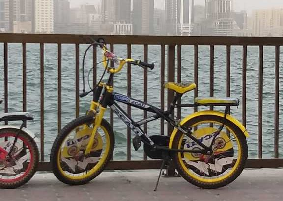 2 bycicle red and yellow