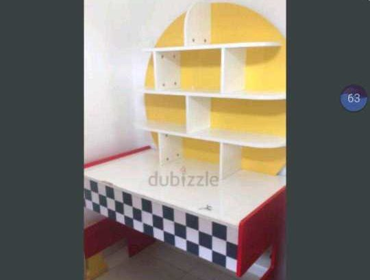 Kids study table in racing theme