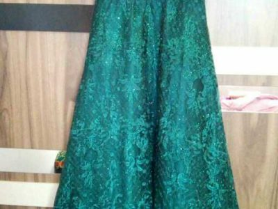 Greenish long luxury dress