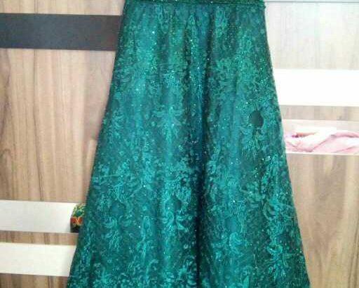 Greenish long luxury dress