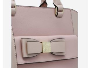 bag- anne klein blush tie the knot tote bag