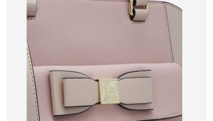 bag- anne klein blush tie the knot tote bag