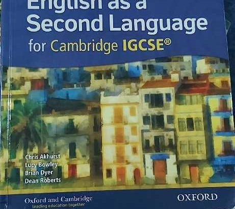 English Book IGCSE – English as a Second language for Cambridge for IGCSE