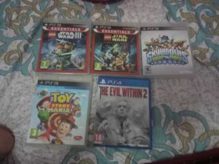 PS4 and PS3 Games. (Offer: 20AED)