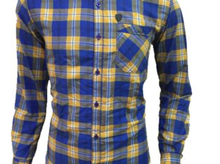 Blue chex shirt for men – Size Medium