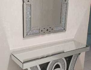 Brand new console table with mirror