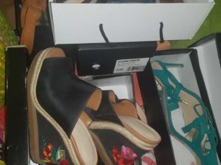 size 37 nine west shoes and 2 paprikas plus 1 duchini for men