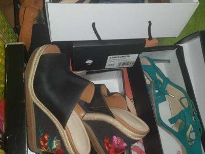 size 37 nine west shoes and 2 paprikas plus 1 duchini for men