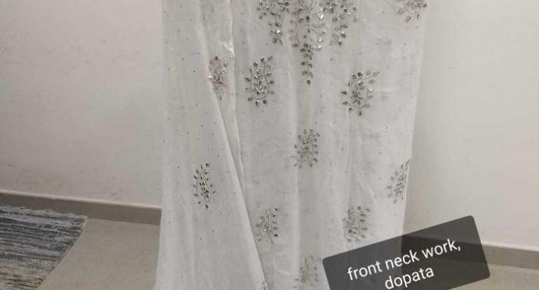 neck work mukeesh kamdaani dress