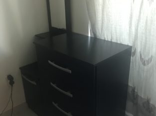dressing table withchest of drawers