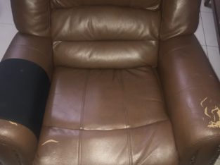 reclining sofa chocolate brown