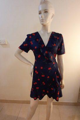 cherry ruffle dress