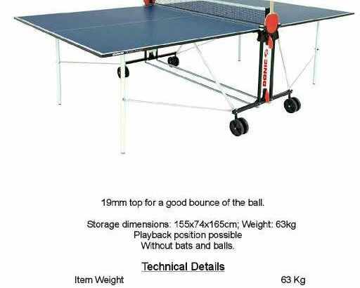 donic indoor tennis table