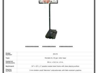 portable basketball hoop