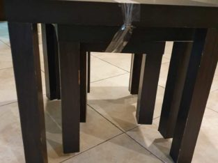 Three wooden table set