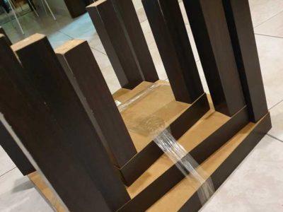 Three wooden table set