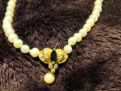 Pearl, Gold necklace