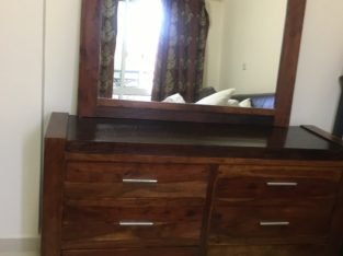 Dresser with bed side drawers