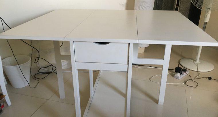 Adjustable ikea table