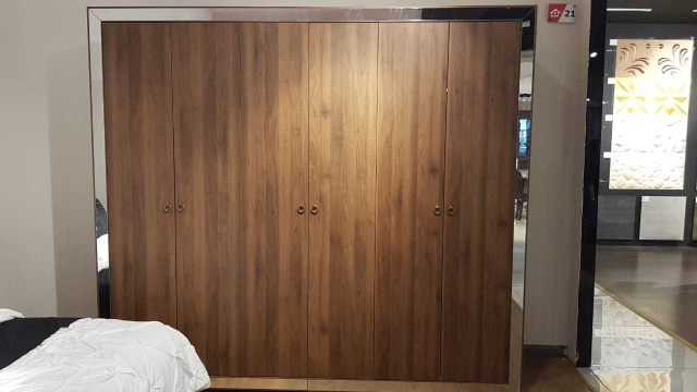 6 Doors Wardrobe Brand New Just Bought From Danube 1 week Ago Dimensions L 243cm x W 61.6cm x H 220cm.