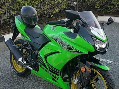 Kawasaki ninja green sport bike