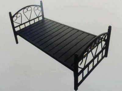 brand new single hevy duty bed black