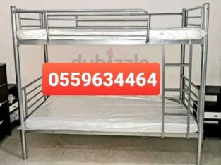 Brand new bunk bed silve hevy duty available All kinds furnitures available