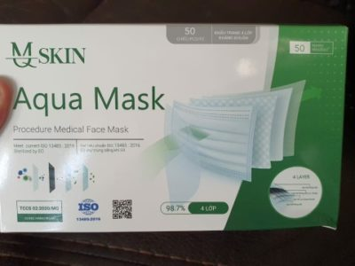 medical supplies and face protection
