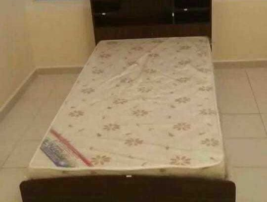 brand new single bed wood with metres