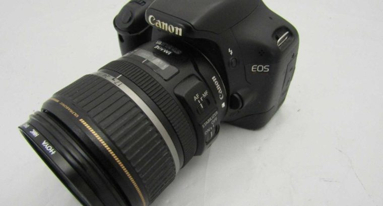 Canon Rabel T1i with 17-85mm USM Ultrasonic Lens with UV Filter +Bag+Memory Card +charger +battery