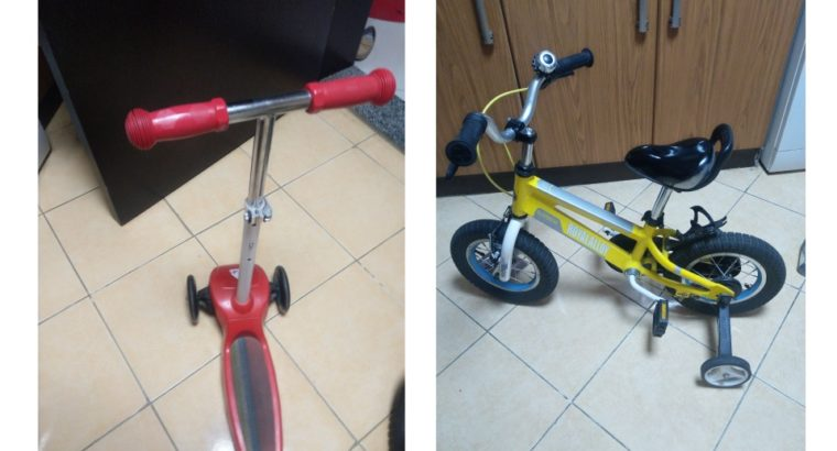 Bicycle and scooter both for aed120