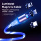 3 in 1 Magnetic Charging USB Cable For Android, Ty