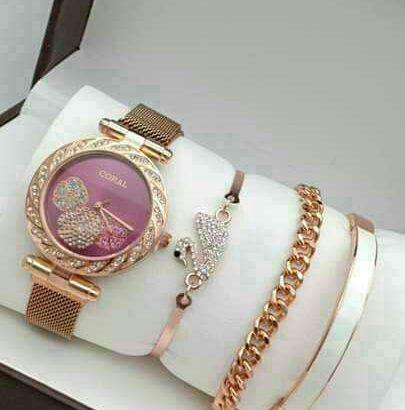 #Ladies Watch with Bracelets set