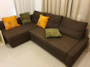 IKEA L-Shape Sofa Bed for Sale