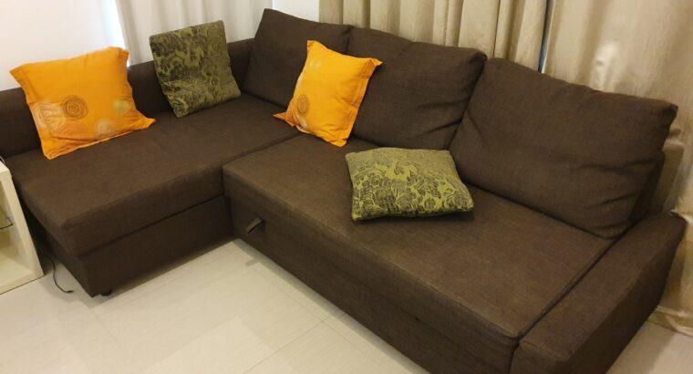 IKEA L-Shape Sofa Bed for Sale