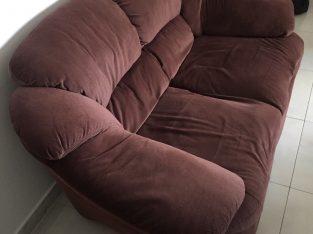 Cuddler sofa 2+ 3 seater. Home center.