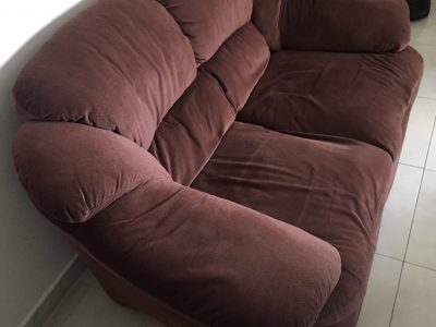 Cuddler sofa 2+ 3 seater. Home center.