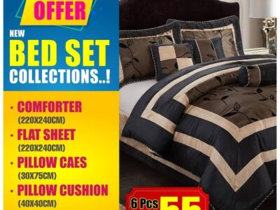 Comforter & bed set 6 piece