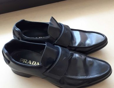 Prada milano original men leather shoes