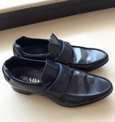 Prada milano original men leather shoes