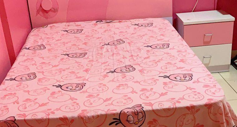 BEDROOM SET FOR CHILDREN – BED CUPBOARD STUDYTABLE