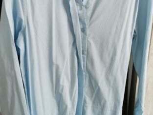 Sky blue long shirt Size Meduim
