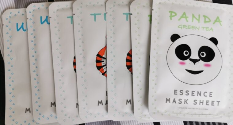 Face Mask sheets for whitening, firming and cleansing