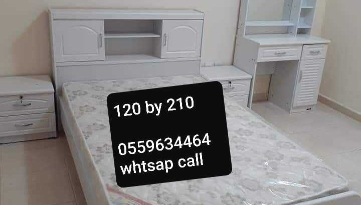 Brand new single and duble size bed wood with metres PM whtsap 0559634464and call same number