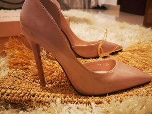 Skin colored high heels