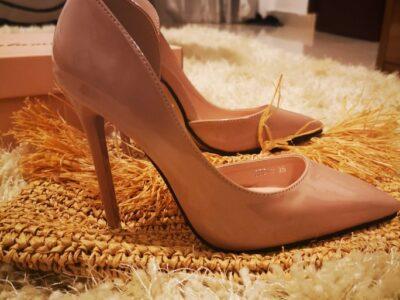 Skin colored high heels